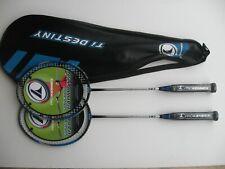Pro Kennex Destiny Pro 727 Graphite Badminton Racket x2 Suit Garden Club player