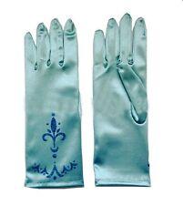 NEW Frozen Princess Queen Elsa fancy Dress costume cosplay Pale Blue Gloves