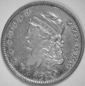 1830 LM-12 CAPPED BUST HALF DIME R-4 Compare with other LM-12's A Rare Bargain!!