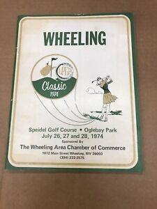 1974 LPGA Golf Program Wheeling, West Virginia