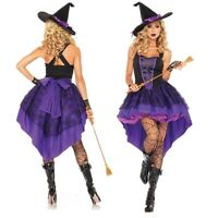 Sexy Women Witch Cosplay Costume Ladies Adult Fancy Dress Halloween Costume New
