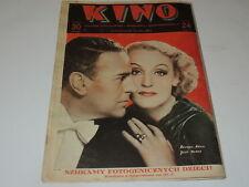 Kino 24/1935 polish magazine Brigitte Helm, Jean Murat, Hedda Kiesler, Myrna Loy
