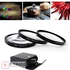 55MM Close Up Macro Lens Kit +2 +4 +10 for Canon Nikon Sony DSLR Camera