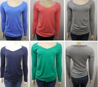 New GAP Womens Maternity Bowery Super Soft V-Neck Ruched L/S Knit Tee T-Shirt
