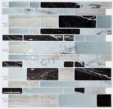 "Crystiles® Peel&Stick Self-Adhesive Tiles, Item# 91010828, 10""X10"", Set of 6"