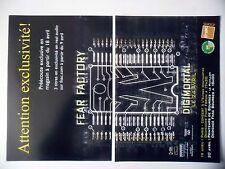 """PUBLICITE-ADVERTISING :  FEAR FACTORY [2pages] 2001 pour sortie de """"Digimortal"""""""