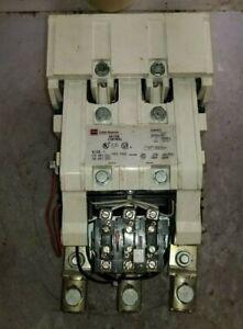 CUTLER HAMMER SIZE 5 MOTOR STARTER 480 VAC COIL 600 VAC 200 HP A200M5CX
