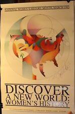 "Rare 1993 Discover A New World: Women's History 17 x 25"" Poster Project Windsor"