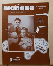Mañana - 1948 sheet music - Peggy Lee & Dave Barbour photo