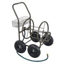 Palm Springs 4 Wheel Portable Garden Hose Reel Cart on Wheels - Holds 150ft Hose