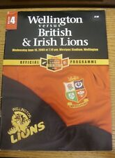 15/06/2005 Rugby Union Programme: Wellington v British  & Irish Lions [At Westpa