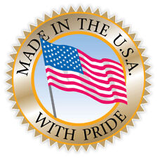 "Made in the USA with pride sticker decal 4"" x 4"""