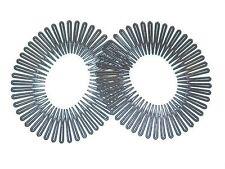 2 x Black Plastic Zig Zag Sports Headband Bandeau Flexi Comb Hair Band