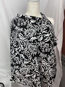 Udder Covers, Nursing Breastfeeding, Cotton Black White Paisley Free Shipping