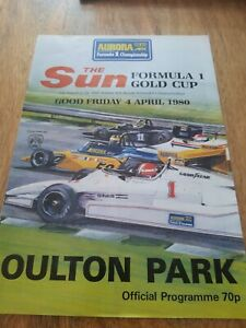 OULTON PARK Aurora British National Formula 1 Gold Cup Prog 4th April 1980