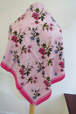 NEW!!Laura Ashley Floral Silk Square Scarf Pink - VERY PRETTY!!