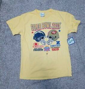47 Brand Vintage Tubular Super Bowl XXIX Yellow T Shirt Size Medium Men