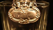 Bourbon Liquor Decanter Label / Tag - Sterling Silver