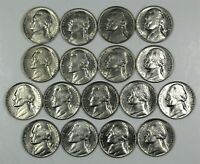 1960 to 1969 JEFFERSON NICKEL UNCIRCULATED RUN 17 COINS P, D, and S MINT MARKS