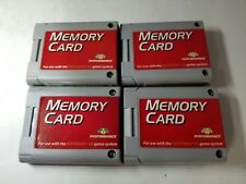 FOUR NEW 256K PERFORMANCE 123 BLOCKS OF MEMORY CARD FOR THE NINTENDO 64 N64 A21