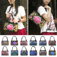 Ethnic Women Handbag Chinese Embroidery Shoulder Bags Ladies Shopper Totes Purse