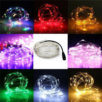 10M/33FT 100LED Copper Wire Xmas Wedding Party String Fairy Light DC 12V