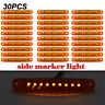 30Pc Durable Amber 9-LED Truck Trailer Lorry Sealed Side Marker Clearance Light