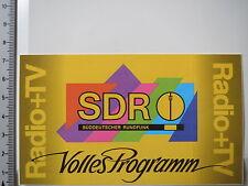 Autocollant sticker sdr radio & tv (3899)