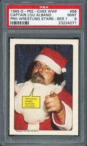 THEY TOOK MY REINDEER 1985 O-Pee-Chee WWF 66 PSA 9 Lou Albano Wrestling Card WWE