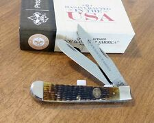 CASE XX New Antique Jigged Bone Handle 2 Blade Boy Scout Trapper Knife/Knives
