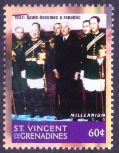 St. Vincent Gr. 2000 MNH, Millennium 1931 Spain Becomes Republic