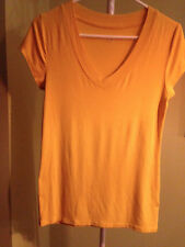Yellow top, Size M, short sleeve, rayon/spandex, great condition