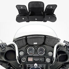 Windshield Bags Tri Pouch 3 Pocket Fit For 96-2013 Harley Touring Electra Trike