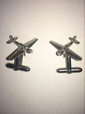 Yakovlev Yak-52 C47 Pair Of Cufflinks Made From Fine English Modern Pewter