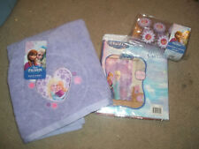 Disney Frozen Ann Elsa Bath Set - Shower Curtain, Hooks, & Bath Towel New