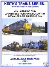 Keith's Trains Series RR DVD #14- CSX IN CAB RIDE- SOU STEAM, NS CR '91 NEW