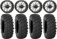 """System 3 ST-3 Machined 14"""" Wheels 28"""" XTR370 Tires Can-Am Renegade Outlander"""