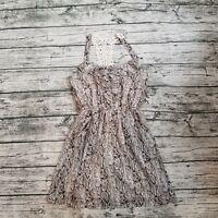 NWT Speechless Women's Snake Print Crochet Back Dress Size Medium M
