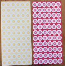 2 Large Sheets DCWV Alphabet ABC Pink Yellow White Flower CUT Scrapbook Stickers