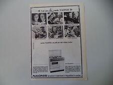 advertising Pubblicità 1967 CUCINA NAONIS MOD. 484 LFE