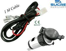 12V 120W Power Boat Car Cigarette Lighter Socket Plug + 1M Cable Connector 10A