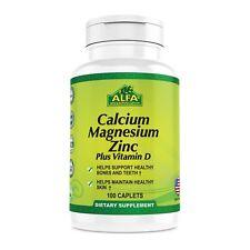 Calcium Magnesium Zinc Plus Vitamin D 100 Caplets - Healthy Bone Structure