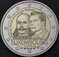 2 Euro Gedenkmünze Luxemburg Luxembourg 2020 Henri UNC Mzz Brücke Bridge