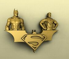 3d STL models for CNC, Artcam, Aspire, relief  batman superman