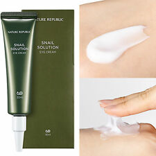 Nature Republic Snail Solution Eyes Cream 30 ml Skin Care Wrinkle Improve Gift