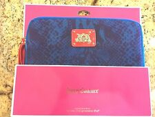 NWT Juicy Couture Blue Python Snake Print IPad Sleeve Cover