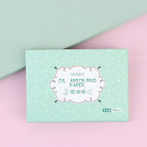 100sheets/pack Green Tea Facial Oil Blotting Sheets Paper Cleansing F.bl