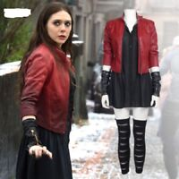 Captain America 3 guerre civile Wanda Maximoff Scarlet witch Cosplay boots AA.1088