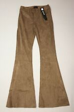 Express Pants Bell Flare Mid Rise Faux Suede Camel Size 6 Reg Inseam 34 NWT $98
