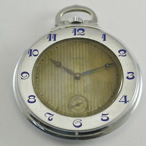 Rare Model Vintage Marvin Pocket Watch Manuel Winding